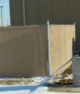 Photo of a commercial fence.