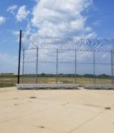 Photo of a commercial athletic fence.