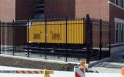 Photo of an aluminum fence.