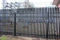 Photo of a steel fence.