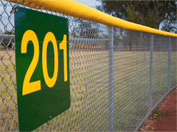 Photo of an athletic/outfield fence.