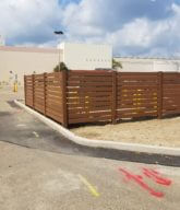 Photo of a wood fence installed at Northwoods Mall.