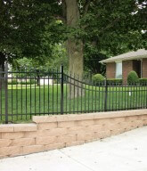 Photo of an ornamental accent fence.