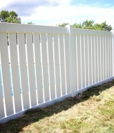 Photo of a residential semi-private fence.