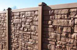Photo of a realistic stone fence.