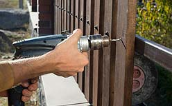 Photo of residential fence installation.