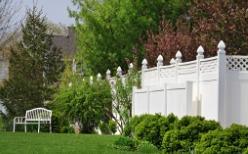 White Vinyl Fencing in Champaign IL