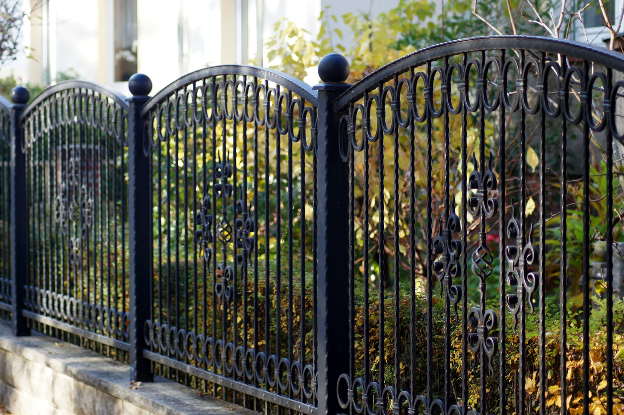 Ornate metal fencing in Bloomington IL